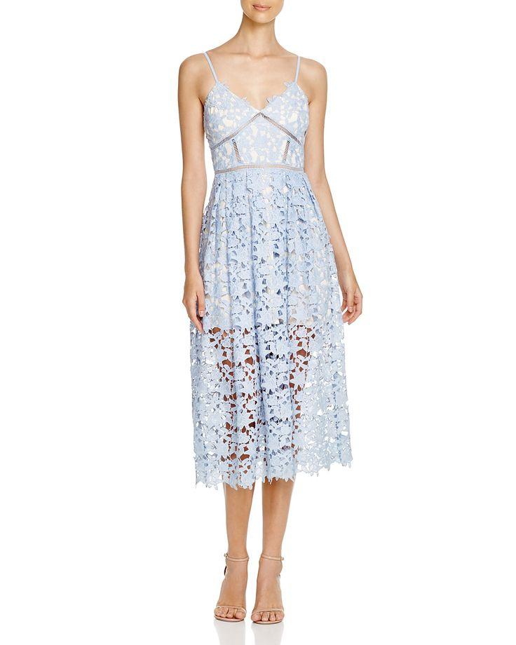 AQUA Lace Cami Midi Dress