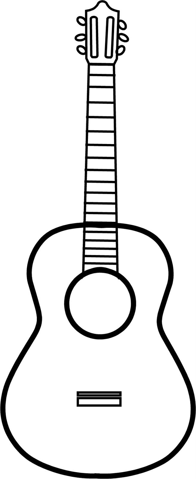 Guitar Outline | Vinyl On The Go: Guitar