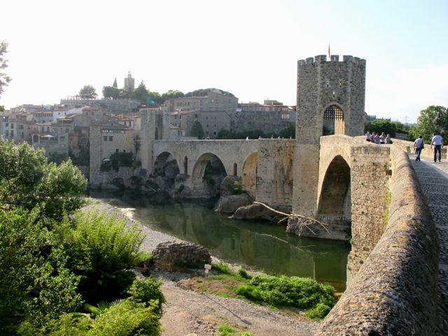 Medieval town of Besalu, Costa Brava, Catalonia.