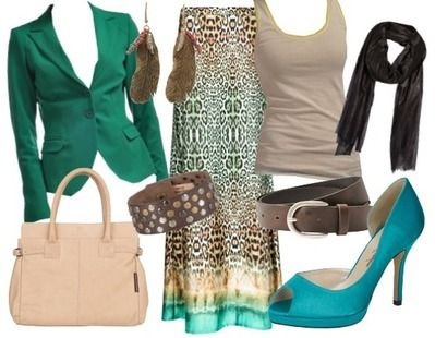 Avond outfit Green leopard