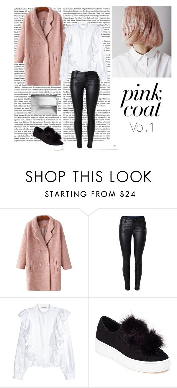 """""""Pink coat vol.1"""" by dorey on Polyvore featuring Steve Madden and Boohoo"""