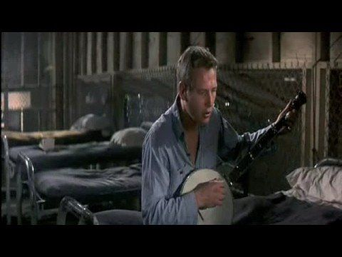 My goal for how I'm going to live and age. Paul. (he is my present age in this scene and made films for 40 more years.)   Paul Newman - Cool Hand Luke - Plastic Jesus