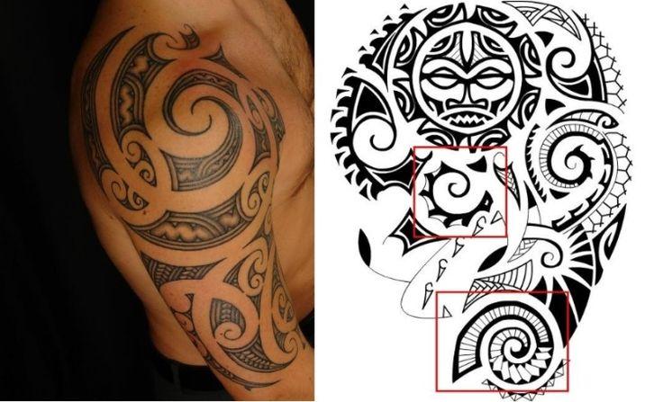 Maori Tattoos - Muschel Muster und Formen