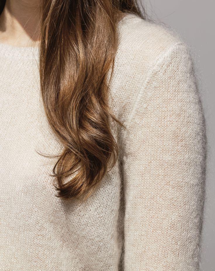 Metallic Mohair Sweater (Pearl)