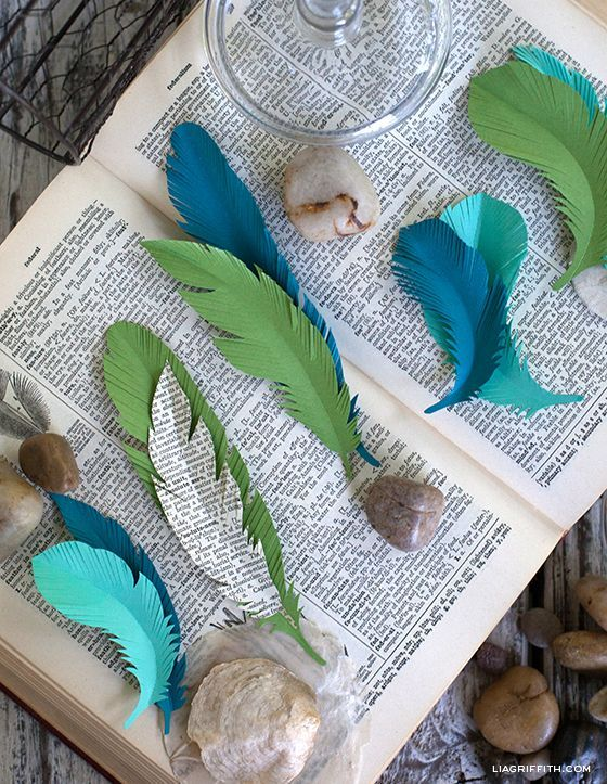Paper Feathers... Simple to Make.
