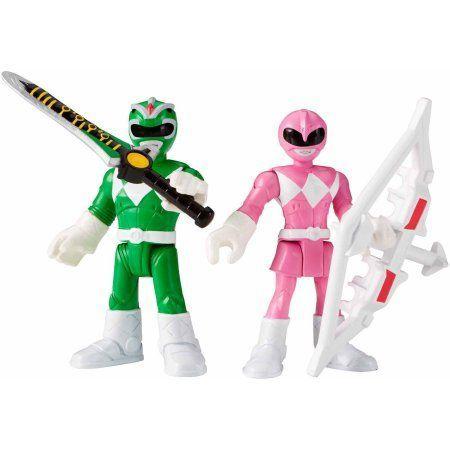 Fisher-Price Imaginext Power Rangers Green Ranger & Pink Ranger, Multicolor