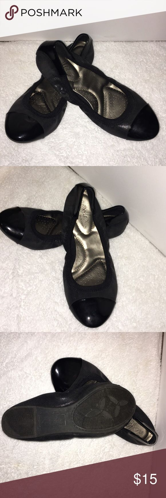 Dex flex flats Classy black flats with a shiny toe. In great condition only worn once and outgrew them. Shoes Flats & Loafers