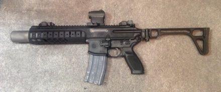 Sig Sauer MCX SBR suppressed .300 BLK