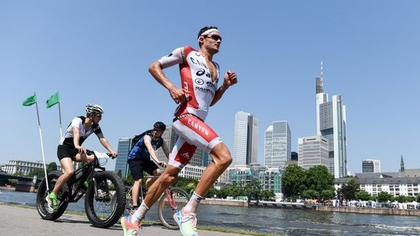 Jan Frodeno aims for world record at triathlon in Roth, Germany.
