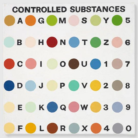 Exhibition: Damien Hirst: The Complete Spot Paintings 1986-2011Painting Spots, Complete Spots, Control Substance, Damien Hirst, Substance Keys, Keys Painting, Hirst Substance, Spots Painting, Hirst Control