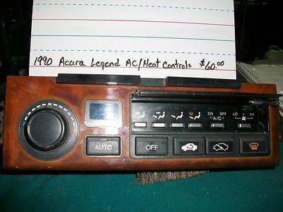 nice 1990 Acura Legend ACHeat controls - For Sale