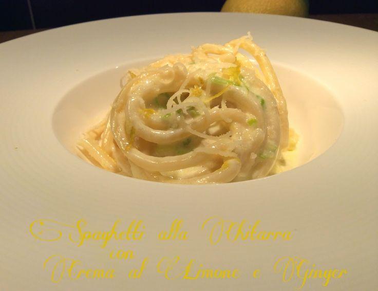 Cucinando tra le nuvole: Spaghetti alla Chitarra con Crema di Limone e Ginger