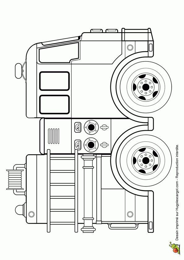 Les 25 meilleures id es de la cat gorie coloriage camion pompier sur pinterest dessin camion - Camion pompier a colorier ...