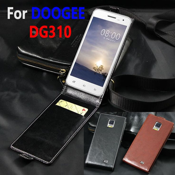 Classic Luxury Genuine Leather Flip Up and Down Leather case For DOOGEE DG310 DG 310 Phone housing Cover Case With Card Slot