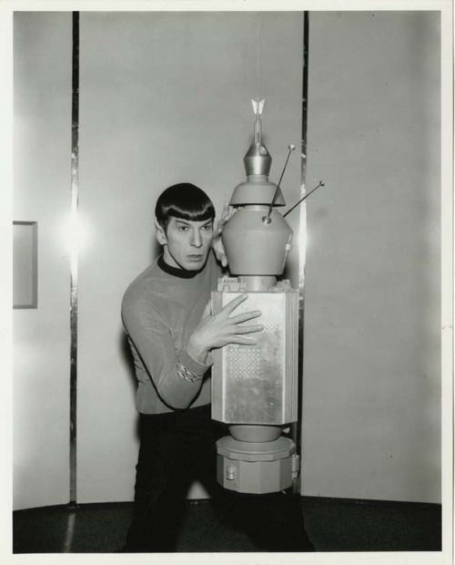 Mr. Spock is not good at hide and seek.