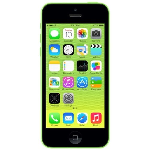 Unlocked Apple - Refurbished iPhone 5C 4G LTE with 16GB Memory Cell Phone - Green
