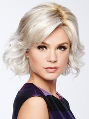 Modern Motif Wig by Gabor...This classic bob is modernized with textured waves. An eyelash bang graces the front to add an air of flirtation, while softly layered lengths throughout offer fullness and movement. The temple-to-temple sheer lace front with a monofilament part allows for off-the-face styling and guarantees a light, comfortable fit and natural look.