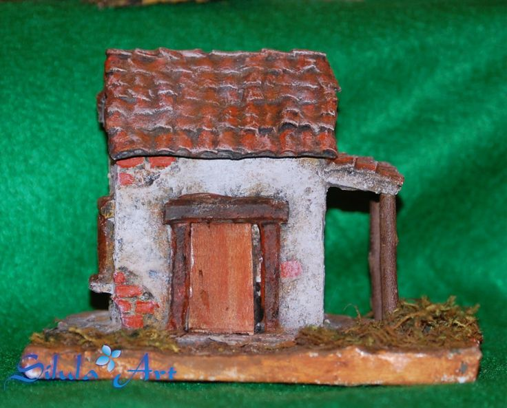 Silula Art: Casetta con legnaia - Presepe artigianale
