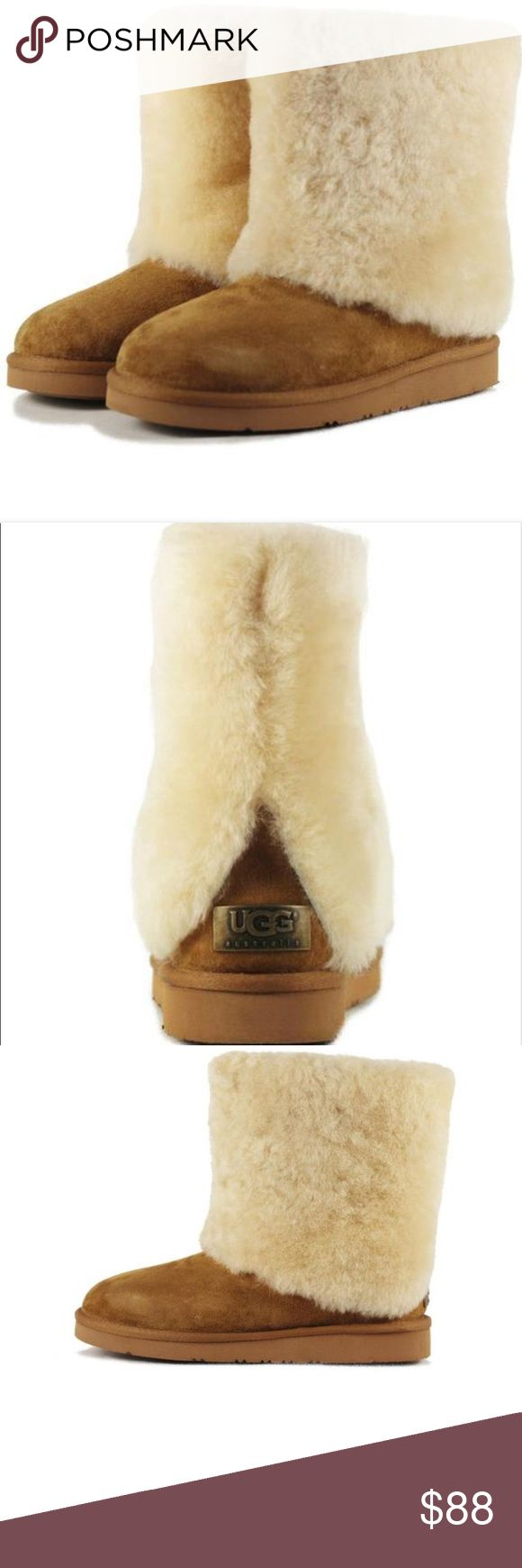 Folded Over Uggs Totally new uggs worn a few times but hardly noticeable UGG Shoes