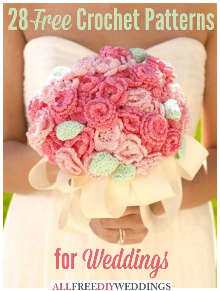 28 Free Crochet Patterns: How to Crochet for a Wedding | AllFreeDIYWeddings.com