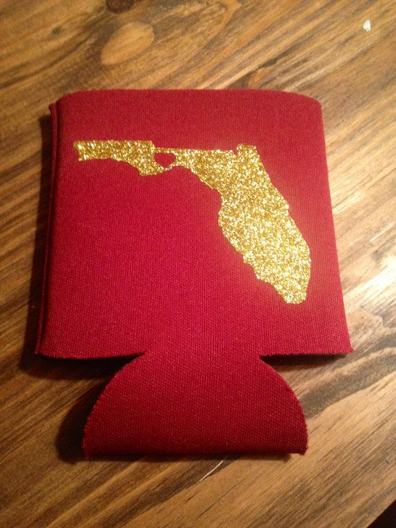 Florida State Monogram Koozie by SweetSouthernSecret on Etsy, $8.00