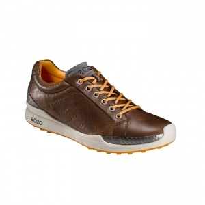 Ecco BIOM Hybrid Golf Cleats Mens Brown Leather - ONLY $189.99