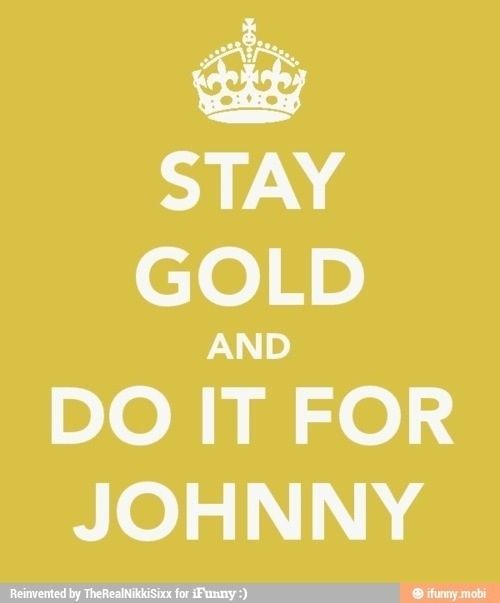 What did Johnny mean when he told Ponyboy to stay gold?