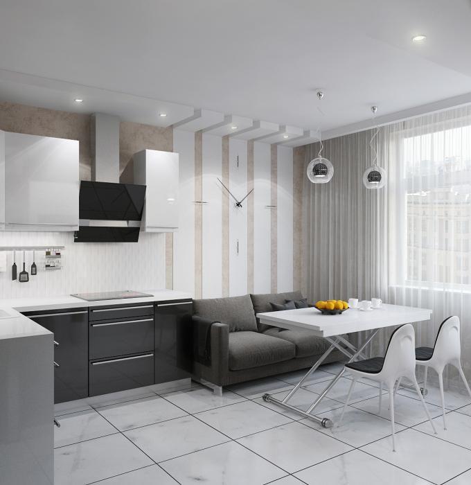 Кухня-гостиная - стильное решение
