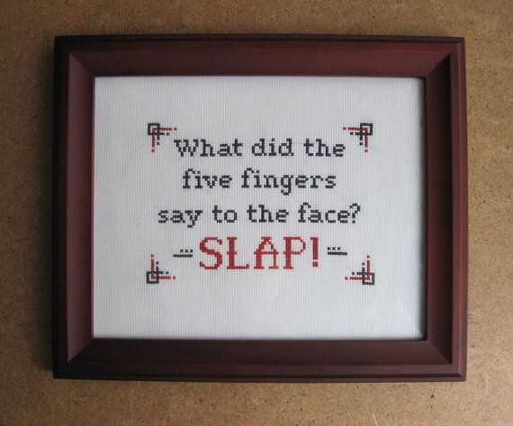 Dave Chappelle's Show Quote Cross Stitch Pattern: Rick James Slap on Etsy, $6.00
