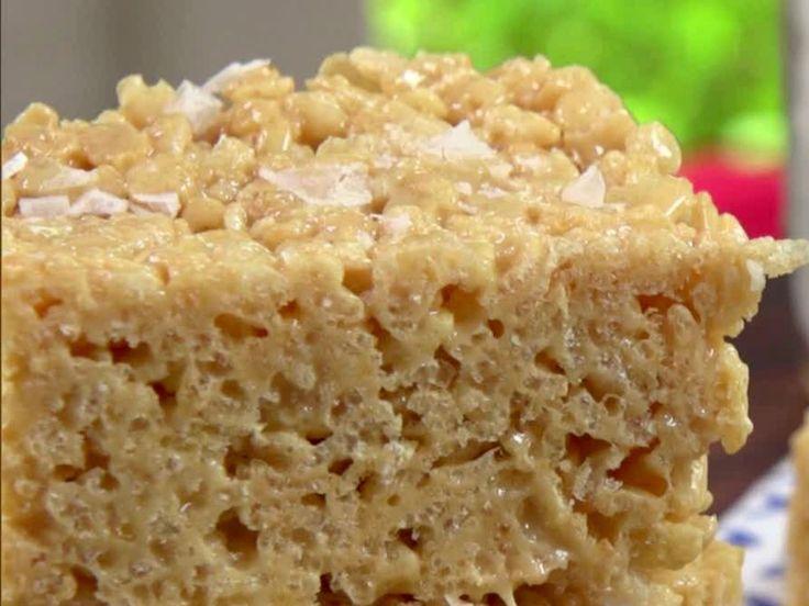 Salted Caramel Crispy Treats recipe from Jamie Deen via Food Network