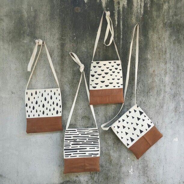 Handstamp sling bag