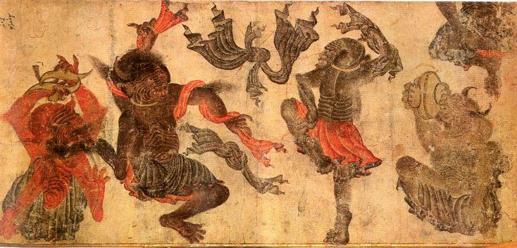 dancers and evils by mehmet (muhammed) siyah kalem