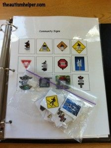 Match Community Signs {easy & age appropriate independent work task}