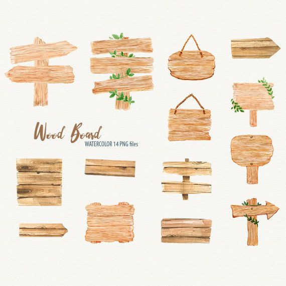 Wooden Signs Wood Board Watercolor Clipart Wood Planks Etsy Wooden Signs Wood Signs Hand Painted Wood Sign