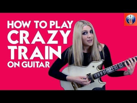 How to Play Crazy Train on Guitar - Ozzy Osbourne Riff Lesson - YouTube
