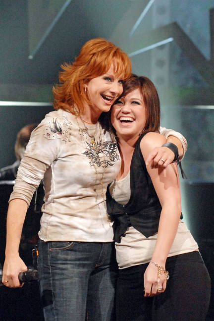 Kelly Clarkson and Reba McEntire ----> Doesn't get any better!