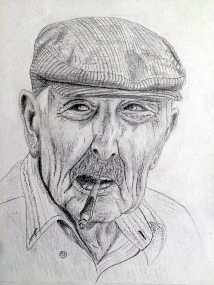 Sicilian. Pencil A4 size drawing.
