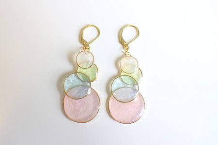 Pastel bubble earrings - Madam Faery : しゃぼん玉ピアス(ピンク系) | Sumally
