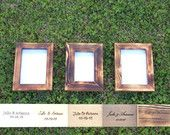 reclaimed wood picture frame set picture frame 5x7 picture frame 5x6 rustic picture frame shabby chic picture frame distressed wedding frame