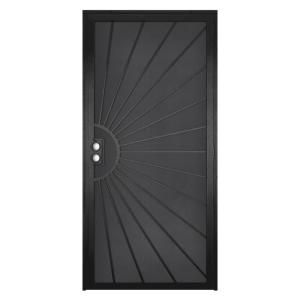 Solana Black Outswing Steel Construction Security/Screen Door, $348. | The Home Depot. Beautiful and practical.