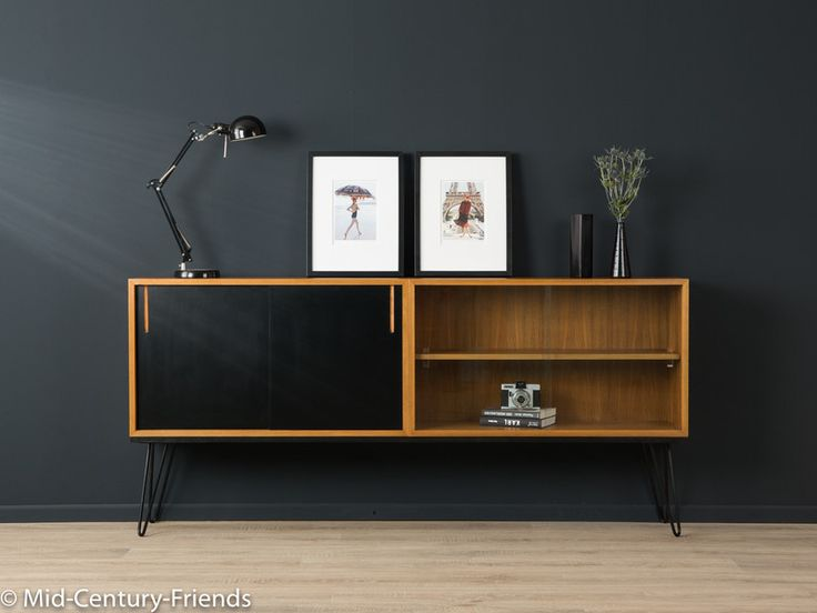 60er sideboard kommode 50er wk vintage von mid century friends auf mid century. Black Bedroom Furniture Sets. Home Design Ideas