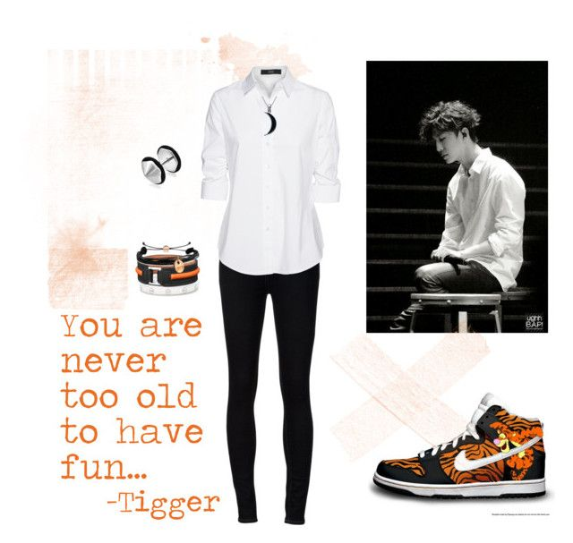 """""""Yongguk Tigger"""" by vinne on Polyvore featuring Ström, Steffen Schraut, Carolina Glamour Collection, Cartier, Bling Jewelry, Domo Beads, blackandwhite, kpop, Tigger and YongGuk"""