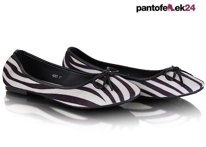 Baleriny w czarne i białe paski / Ballerinas in black and white stripes / 9,90 zł #ballerines #spring #fashion #moda #summer