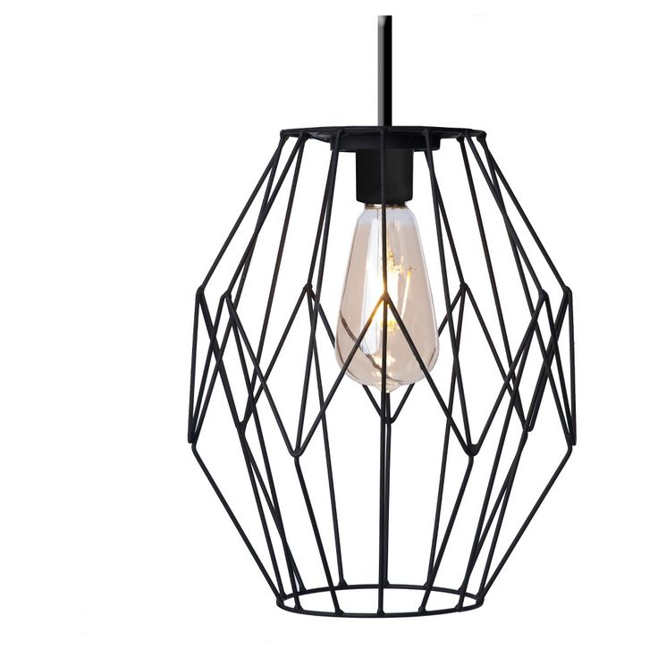 Paradise Garden Geometric Led Pendant Light, Black