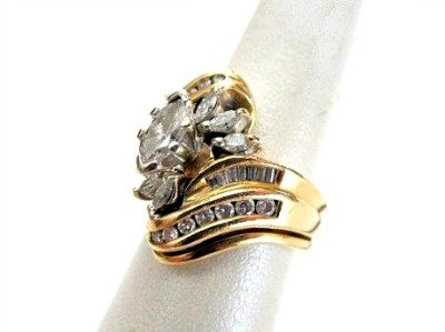 Reduced 1980 S Wedding Ring Set 14k Gold 130 By Sobejeweled
