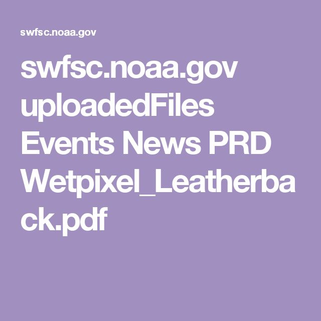 swfsc.noaa.gov uploadedFiles Events News PRD Wetpixel_Leatherback.pdf