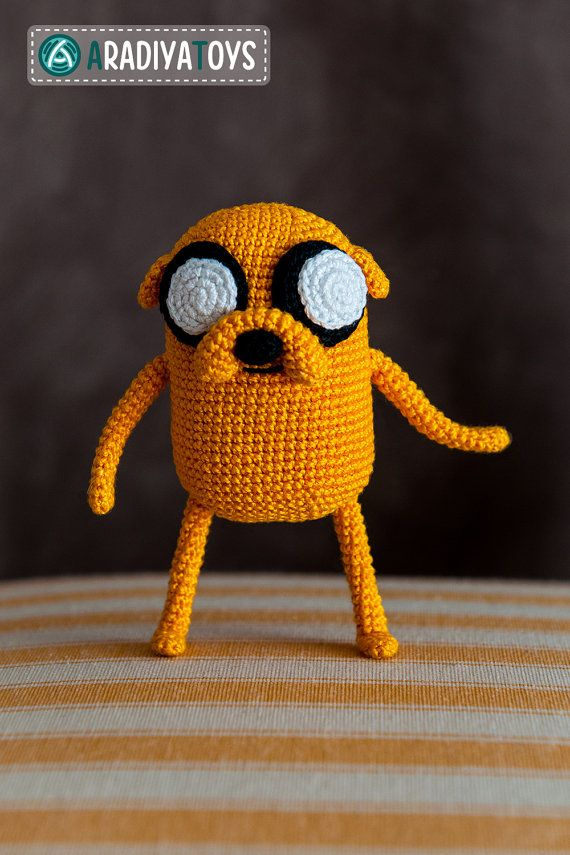 "Crochet Pattern of Jake from ""Adventure Time"" (Amigurumi tutorial PDF file)"