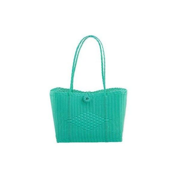 NOVICA Cerulean Recycled Plastic Tote Handbag from Guatemala (150 PLN) ❤ liked on Polyvore featuring bags, handbags, tote bags, accessories, clothing & accessories, totes, turquoise blue, tote purses, green tote bag and man tote bag