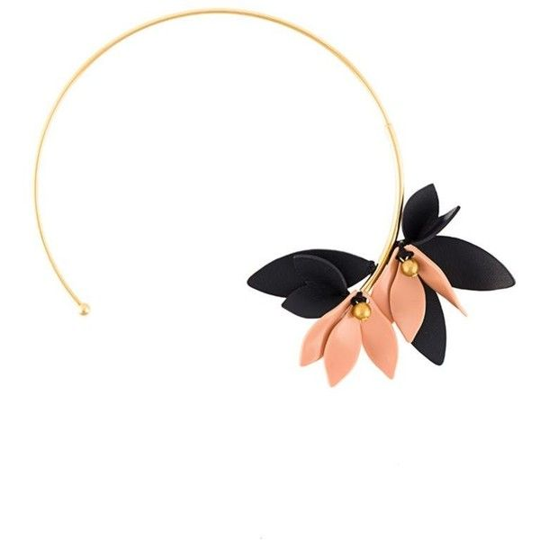Marni Flower Open  Necklace (878.725 COP) ❤ liked on Polyvore featuring jewelry, necklaces, metallic, metallic jewelry, blossom necklace, marni jewelry, marni necklace and flower jewelry