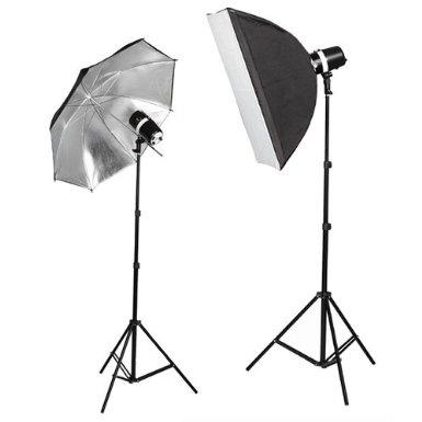 Amazon.com: CowboyStudio 220 Watt Photo Studio Monolight Strobe/Flash Softbox Umbrella Lighting Kit - 2 Studio Flash/Strobe, 1 Softbox, 1 Reflective Umbrella: Camera & Photo